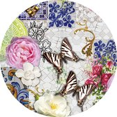 Rond tafelzeil wilders mosaics 160cm