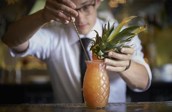 Libbey Drinkglas Tiki Pineapple - 510 ml / 51 cl - 6 stuks - grappig design - vaatwasser bestendig - hoge kwaliteit