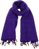 MoreThanHip Pina - brede 'yakwol' sjaal of omslagdoek – paars