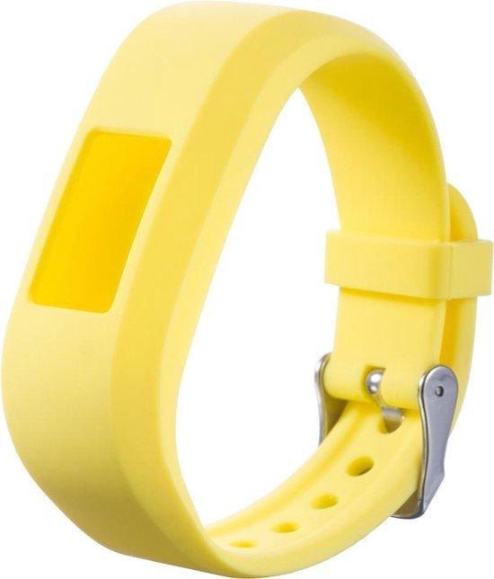 Siliconen Horloge Band Voor Garmin Vivofit 3 & Junior 1/2 - Armband / Polsband / Strap Bandje / Sportband - Geel