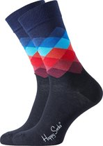 Happy Socks Sokken Faded diamond zwart 41-46