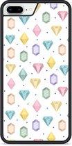 iPhone 8 Plus Hardcase hoesje Diamonds