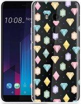 HTC U11 Plus Hoesje Diamonds