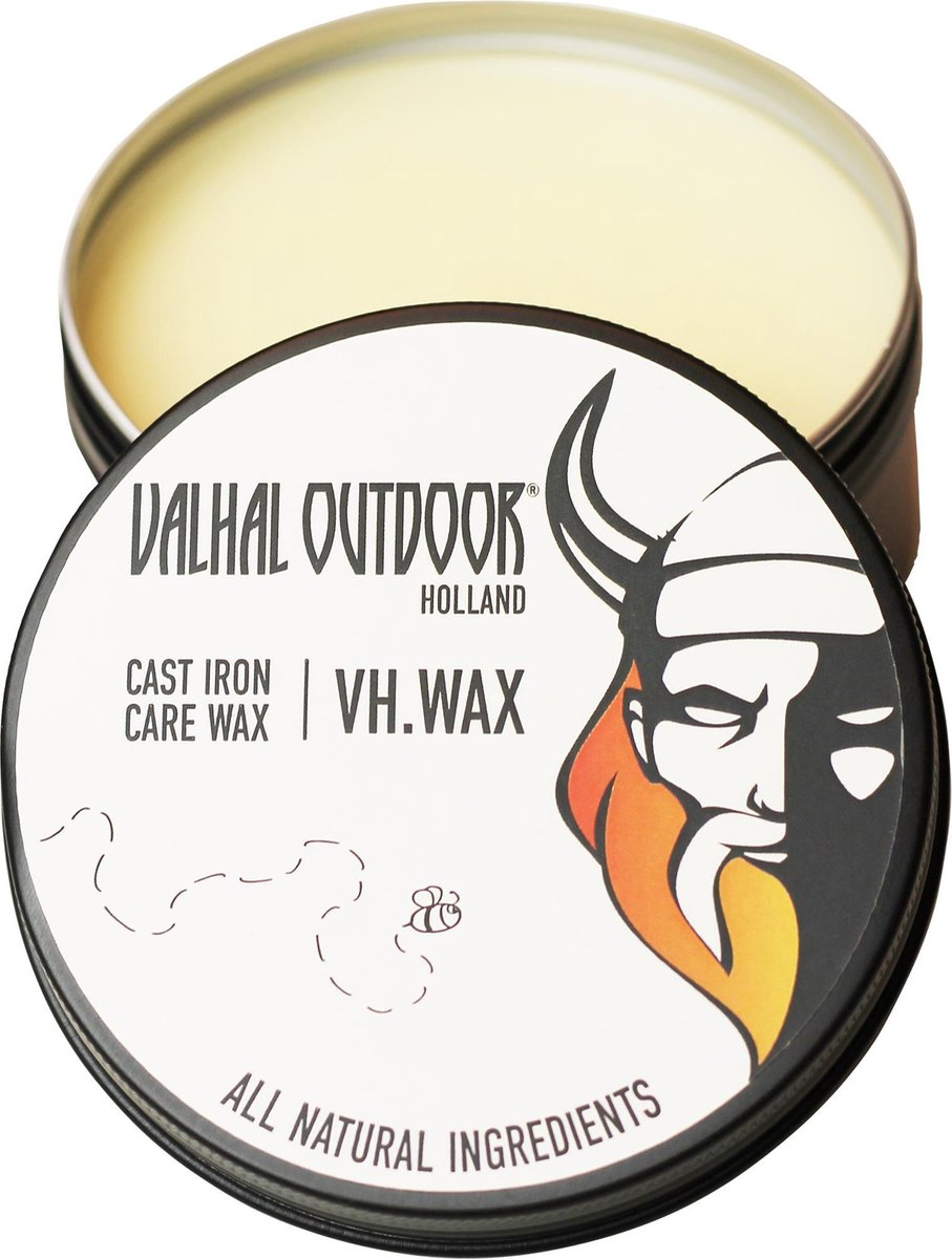 Valhal Outdoor - wax voor gietijzeren pannen