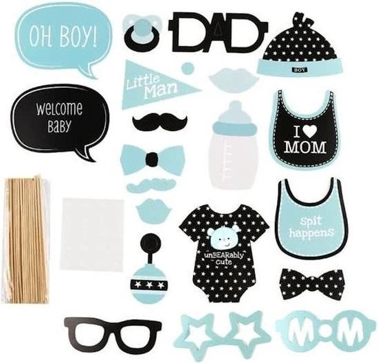 iBello photo prop jongen babyshower