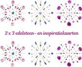 Edelsteen- en inspiratiekaarten | 6 stuks | 14,7 x 14,7 cm | set 8