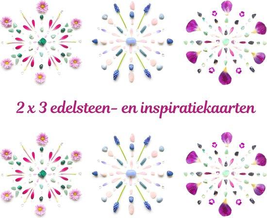 Edelsteen- en inspiratiekaarten   6 stuks   14,7 x 14,7 cm   set 8