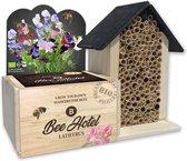 Bijenhotel met BIO zaden Lathyrus kweekset