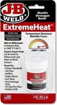 JB-Weld ExtremeHeat Reparatie-pasta - Voor extreem hete toepassingen tot 1.300° C- Voor ovens, verwarmingsketels, uitlaatsystemen, Turbo's - 3,0 oz