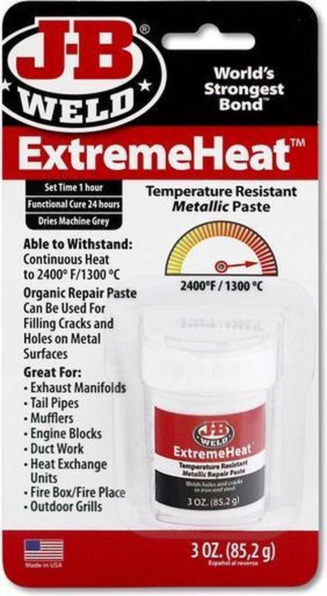 JB-Weld ExtremeHeat Reparatie-pasta - Voor extreem hete toepassingen tot 1.300  C- Voor ovens, verwa