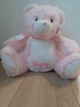 MissSiepie Roze beer knuffel met naam kind