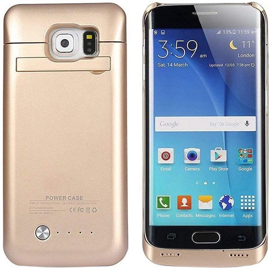 S6 Edge-batterijhouder COOLEAD 4200 mAh draagbare opladerbehuizing Externe batterij Power Bank-oplader met standaard voor Samsung Galaxy ...