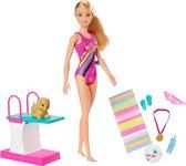 Barbie Dreamhouse Adventures Barbie in zwempak (29 cm) - Barbiepop