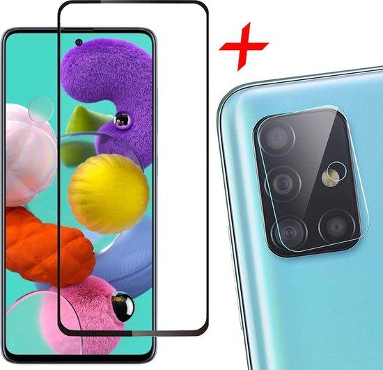 Samsung A51 Screenprotector en Samsung A51 Camera Protector Samsung Galaxy A51 Screenprotector Full + Camera Protector
