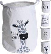 wasmand - opbergmand kinderen - speelgoedmand - mand - opvouwbaar - dier Hond - 40XH50 cm - giraf - olifant - krokodil - tijger