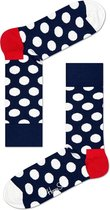 Happy Socks Big Dot Sokken - Donkerblauw/Wit - Maat 41-46