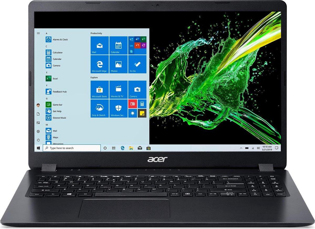 "Acer Aspire 3 A315-56-58WY Notebook Zwart 39,6 cm (15.6"") 1920 x 1080 Pixels Intel® 10de generatie Core™ i5 8 GB DDR4-SDRAM 256 GB SSD Wi-Fi 5 (802.11ac) Windows 10 Home"