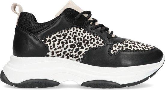 Manfield - Dames - Zwarte dad sneakers