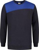 Tricorp Sweater Bicolor Naden 302013 Navy / Koningsblauw - Maat 5XL
