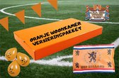 Oranje Woonkamer Versiering - Volledig Pakket - Versiering Oranje - Voetbal Versiering - EK 2021 - Woonkamer Decoratie Oranje - Nederlands Elftal - Feest Versiering - Ballonnen/Vlaggetjes/Vlag