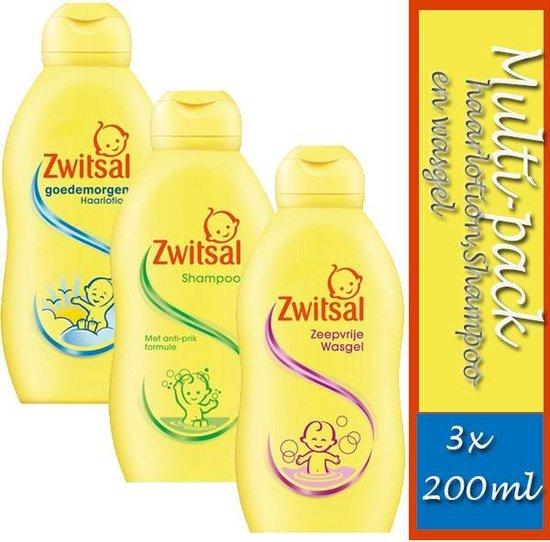 Multi-pack Zwitsal: 200ml haarlotion, 200ml Shampoo en 200ml  wasgel
