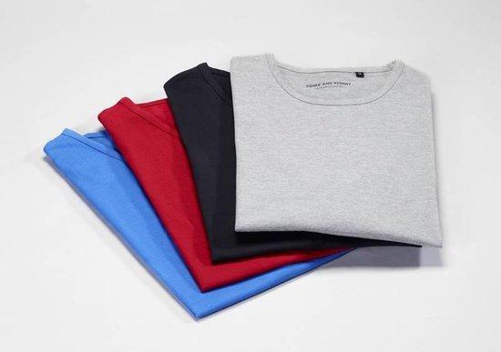 Mouwloos T-shirt blauw maat M