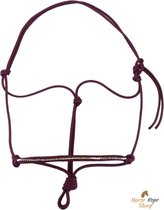 Touwhalster bordeaux 'strass' maat Cob | steentjes glitter touwproducten halster