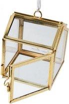 French Glass Christmas Box Ornament
