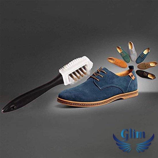 Suede borstel - Suede gum - Suede set in katoenen opbergzakje - Voor schoenen - Schoen