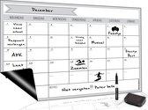 Magnetische Weekplanner (2) - Inclusief Magnetische Whiteboard Marker + Extra Magnetische Wisser - A3 Formaat - Kalender - Dagplanner - Planbord - Familieplanner - To Do Planner