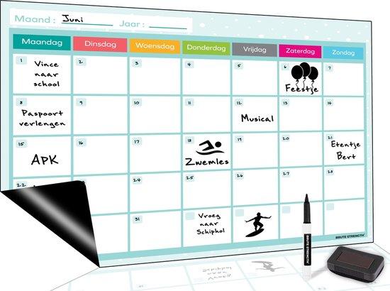 Magnetisch Weekplanner whiteboard (5) - A3 - Planbord - Familieplanner  - Gezinsplanner - To Do Planner