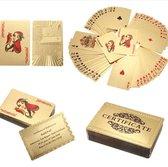 Luxe Goud/silver kleurig Speelkaarten Set - Poker Kaartspel - Spel Kaarten - 500 Euro Model - Plastic Playing Cards Geplastificeerd - 54 Kaarten