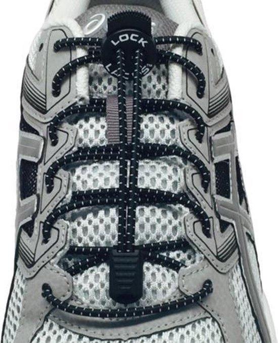 Lock Laces Zwart - Elastische schoenveters - Hardlopen
