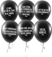 RUMAG Ballonnen - Beterschap - Set van 7 stuks Zwart