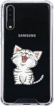Samsung Galaxy A50 Siliconen hoesje (katje)