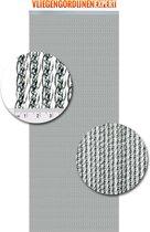 Vliegengordijnenexpert Venetië - Vliegengordijn - 92x210 cm - Transparant met zilveren kern
