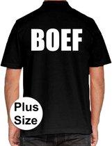 BOEF grote maten poloshirt zwart voor heren - Plus size BOEF polo t-shirt 3XL