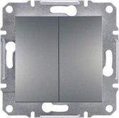 Schneider Electric Asfora Serie - Schakelmateriaal - Inbouw Serieschakelaar -Inbouw - GRIJS - Steekverbindingen voor snelle afwerking