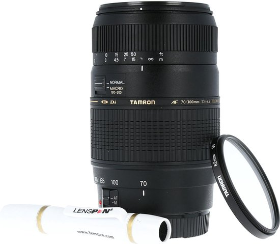 Tamron AF 70-300mm f/4.0-5.6 Di LD Canon EF + UV-Filter 62mm + Elite Lenspen