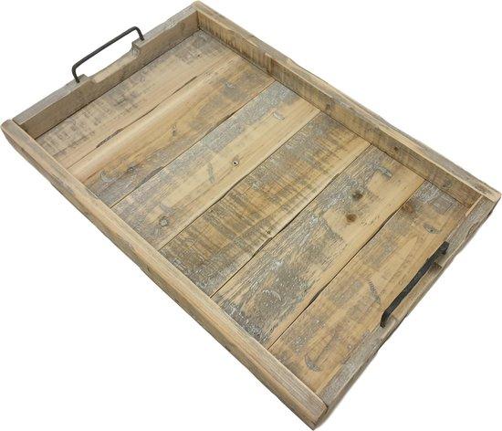 Houten dienblad old Dutch 58 cm landelijk dienblad rechthoek