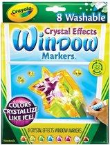Crayola - Afwasbare Raammarkers- Crystal Effect - 8 stuks