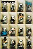 Reinders Poster Toilet.Cam 2 - Poster - 61 × 91,5 cm - no. 11854