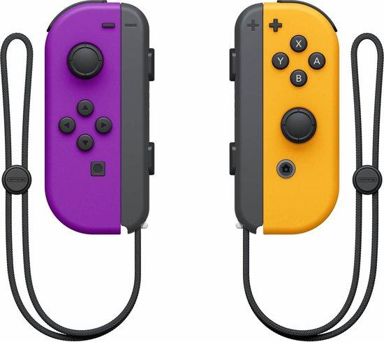 Nintendo Switch Joy-Con Controller paar - Neon Lila en Neon Oranje
