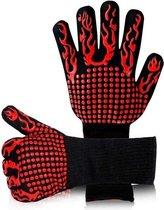 2x Hittebestendige Oven & BBQ handschoen -  Silicone patroon voor extra grip - Hittebestendig - Dubbel gevoerd – BBQ handschoenen - BBQ handschoen - Barbecue - Koken - Ovenwant - BBQ accessoires