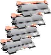 Activeje Toner cartridge / Alternatief t Promo Pakket Brother 4 x Toner TN-2220/TN-2210/TN-2010 | Brother DCP-7055/ DCP-7055W/ DCP-7057E/ DCP-7060D/ DC