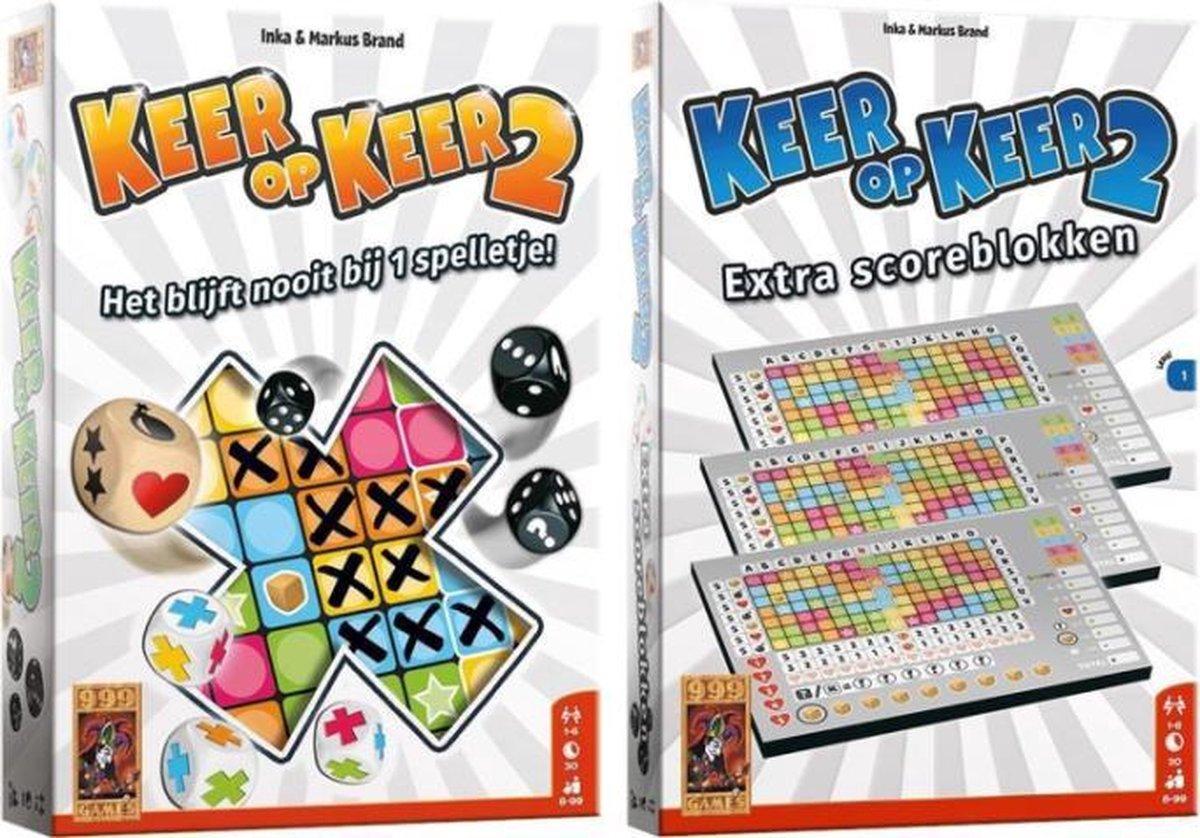 Keer op Keer 2 + Keer op Keer 2 Extra Scoreblokken Level 1 - 999 Games