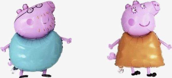 Peppa pig  (Mamma en Pappa pig) set folie ballon