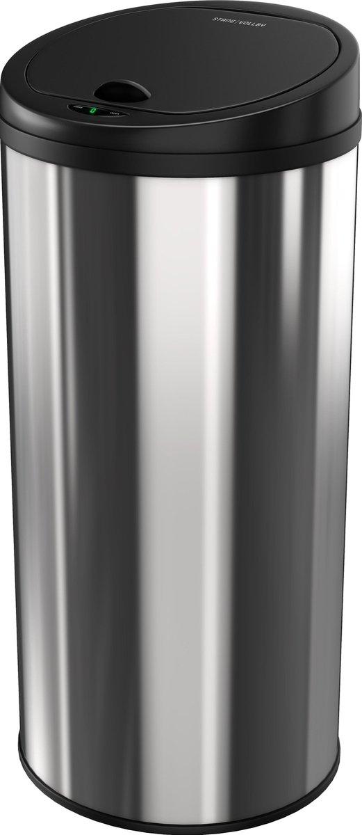 Stangvollby Luvos Prullenbak met Sensor - 50L - Soft Close Deksel - RVS - Design Afvalemmer - Hygi n