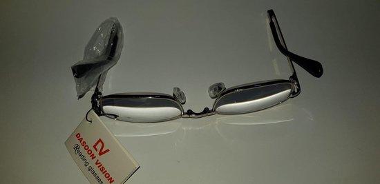Dasoon Vision Opvouwbare leesbril incl stevige opberg mapje met ritssluiting sterkte +3,50