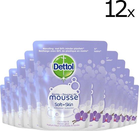 Dettol Magic Foam - navulling Orchidee & Vanille - 12 x 200 ml
